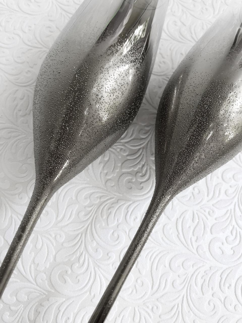 Сребърни кристални чаши с релефен ефект L22