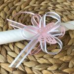 Комплект за Кръщене за момиче в розово