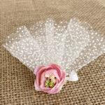 Сватбени късмети с розови божуриB4