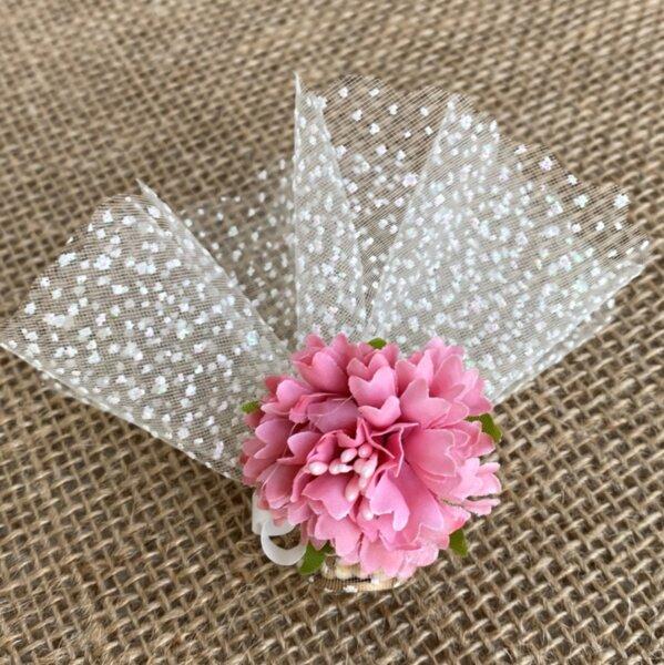Сватбен късмет с розово цвете B5