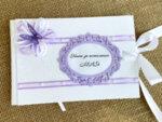 Комплект за Кръщене за момиче в лилаво (или цвят по избор)