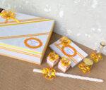 Комплект от аксесоари за Кръщене в жълто