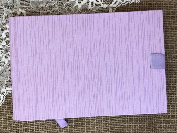 Сватбена книга за пожелания - лилава C6