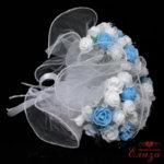 Булчински букет за хвърляне в светло синьо R5