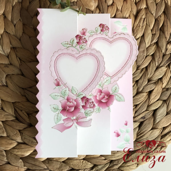 Сватбени покани със сърца P11