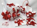 Сватбен комплект аксесоари с панделки