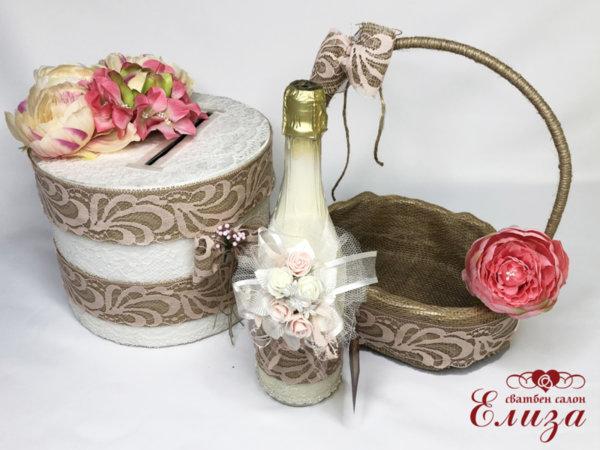 Сватбен  комплект аксесоари в стил винтидж K2
