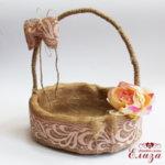 Сватбена кошница за късмети винтидж
