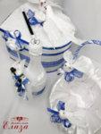 Сватбен комплект аксесоари с бели гълъби