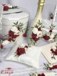 Сватбен комплект с божури и рози K4