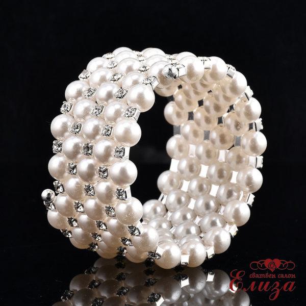 Сватбена гривна с перли за булката B3