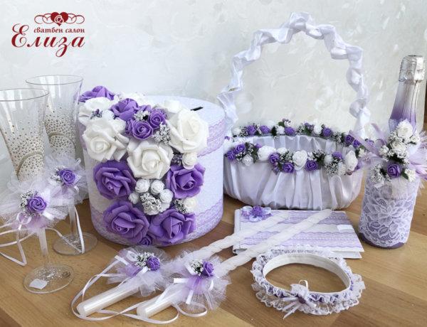 Сватбен комплект от рози К7