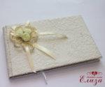 Сватбен комплект аксесоари от рози и дантела в екрю K8