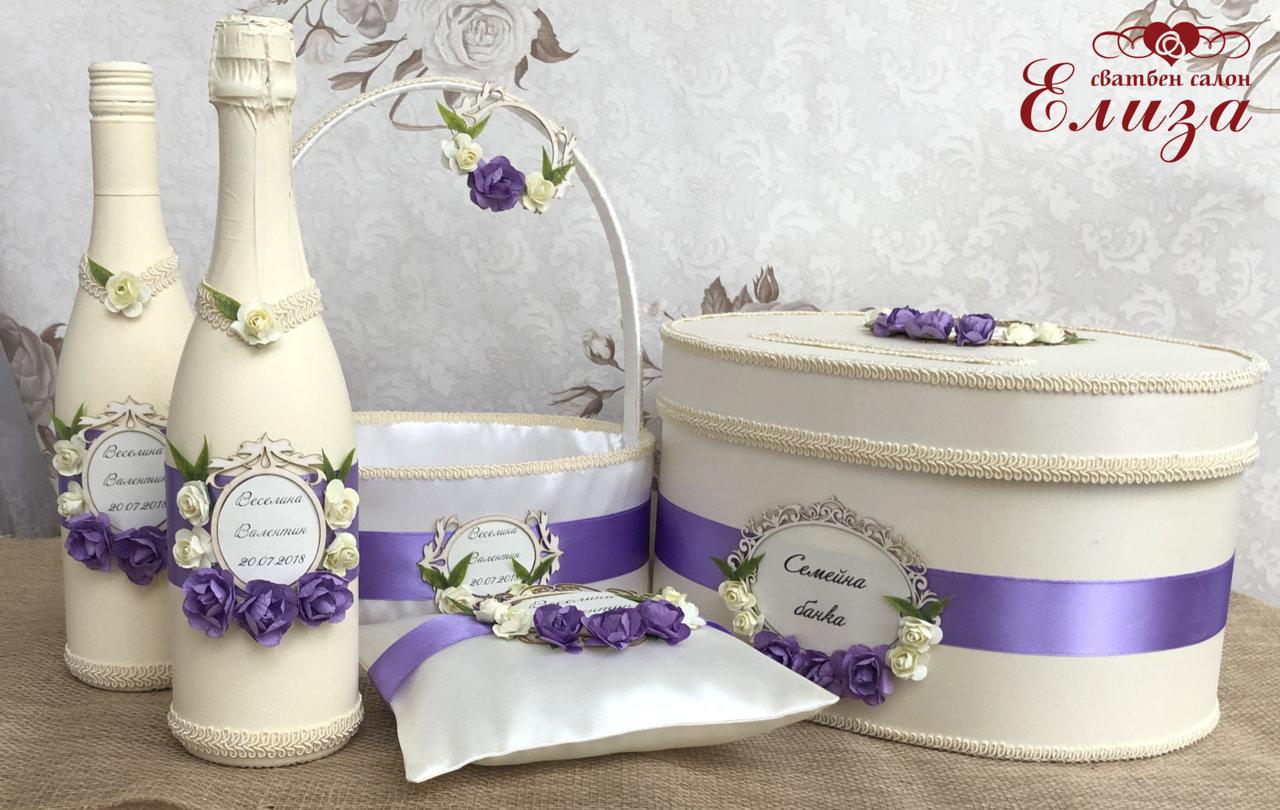 Персонализирани сватбени аксесоари с имената на младоженците K18