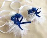 Сватбени аксесоари в кралско синьо с дантела и рози K27