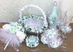 Сватбени аксесоари в цвят мента K29