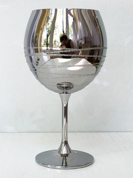 Сребърен бокал за вино с ефект B17
