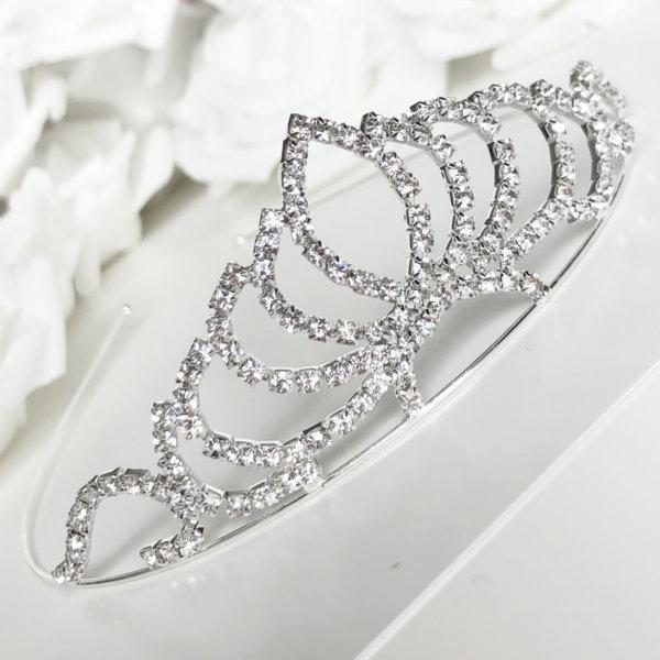 Сватбена корона за коса с камъни K20