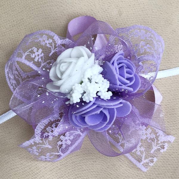 Сватбени гривни в лилаво F9