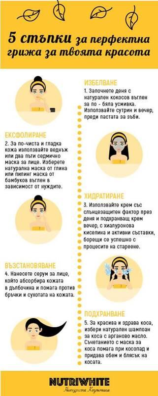 5 лесни стъпки към твоето здраве и красота