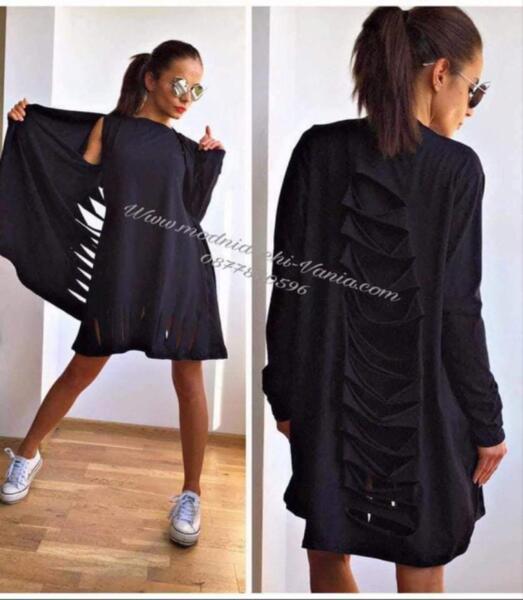 Дамски комплект рокля и жилетка код 1012, Vanya Fashion