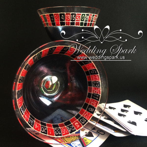 Casino roulette Champagne Saucers