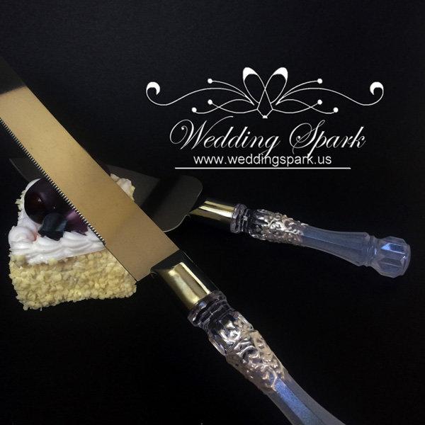 Gatsby Cake serving set white wedding theme