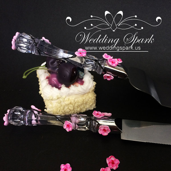 Cherry blossom Cake serving set