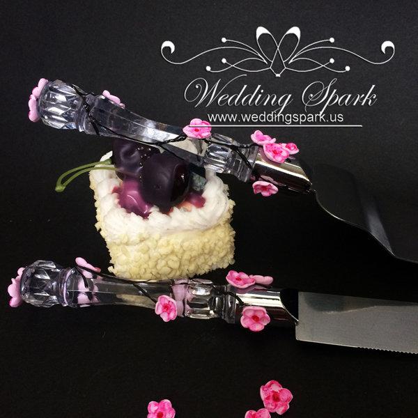 Cherry blossom Cake serving set