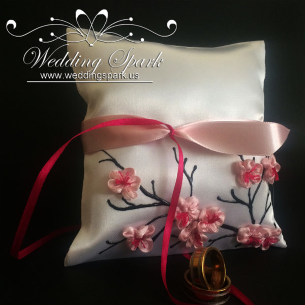 Cherry blossom ring pillow