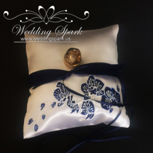 Blue orchid ring pillow