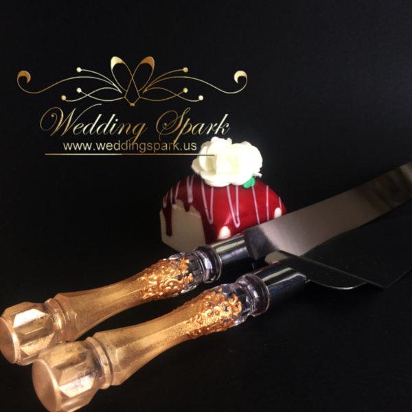 Gatsby Cake serving set gold wedding theme
