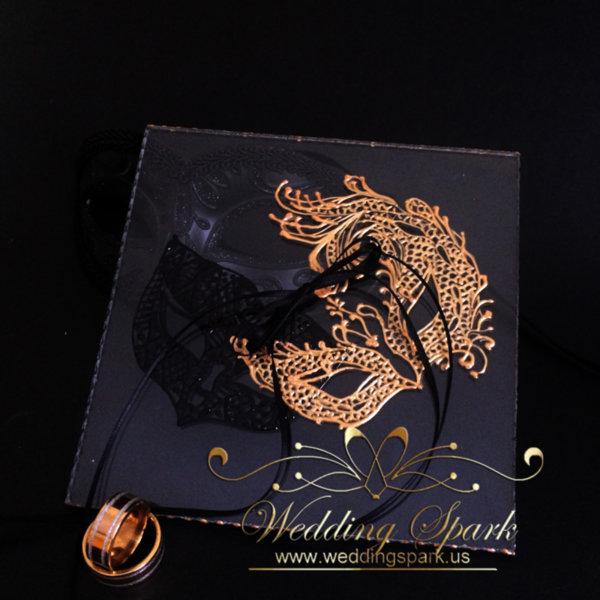 Masquerade mask ring plate