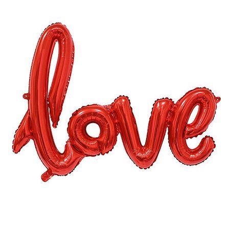 """Фолиев балон надпис """" LOVE"""" в страстно червено за украса и снимки"""