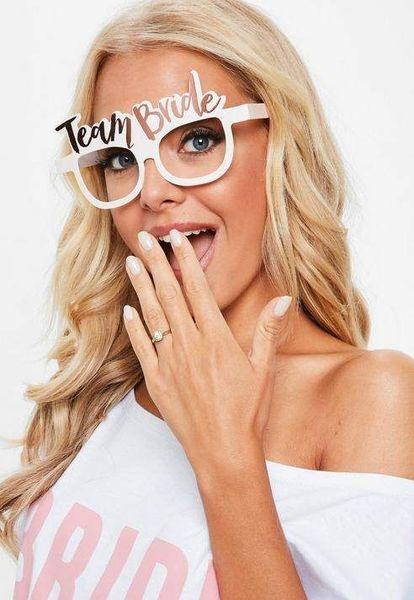 TEAM BRIDE -  8 броя очила за моминско парти