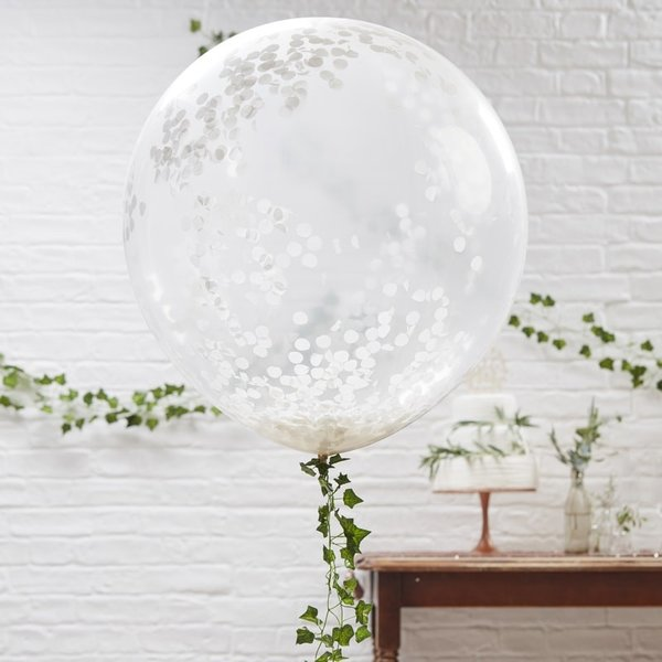 90 СМ Балони с конфети - балони WOW ефект - 3 броя