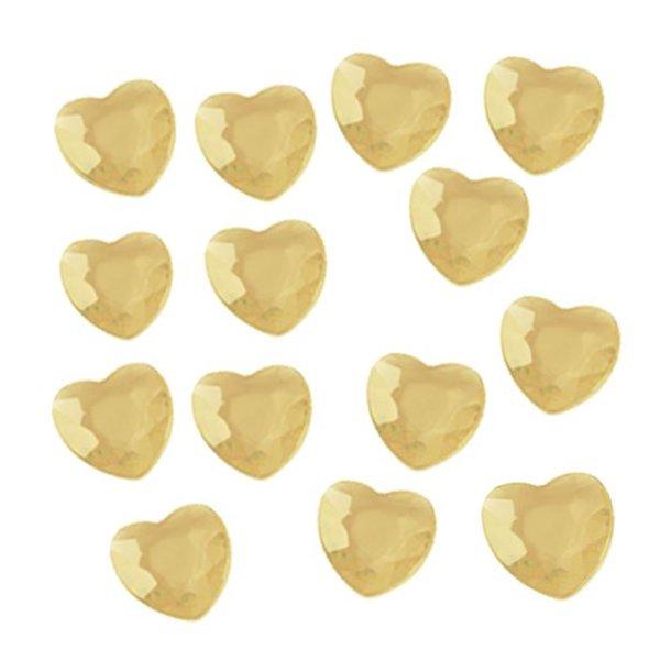 Мини диамантчета сърца за декориране на маса в злато