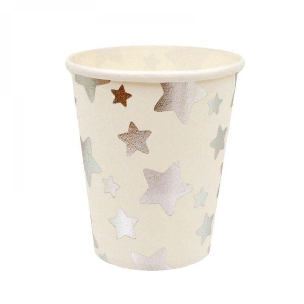 """Парти чашки """"Сребърни звезди"""" /10 броя в опаковка/"""