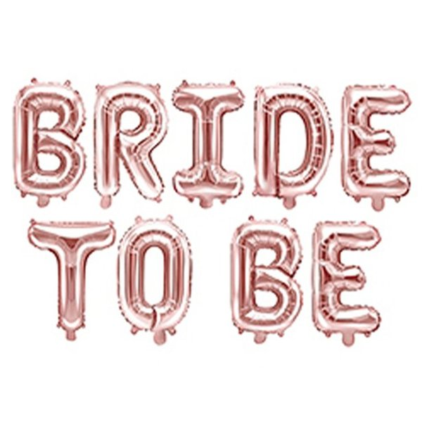 Bride To Be -  9 броя балони в розово злато 3.40 метра  дължина