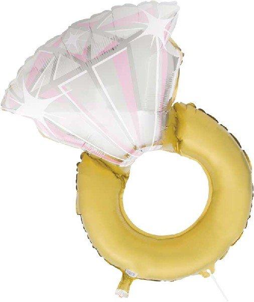 Сватбен пръстен - Огромен балон от фолио - 80 см