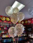 Балони със златни конфети - 6 броя