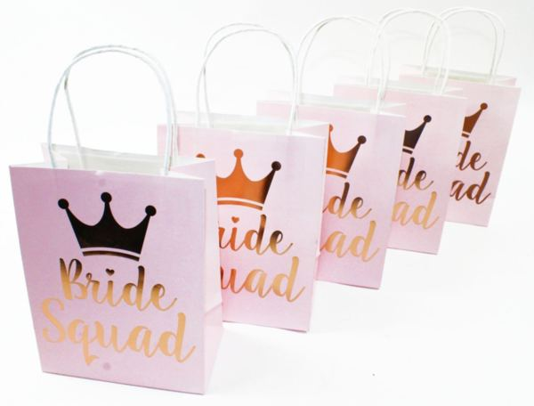 """Луксозен плик за подаръци """"Bride Squad"""" - 5 броя"""