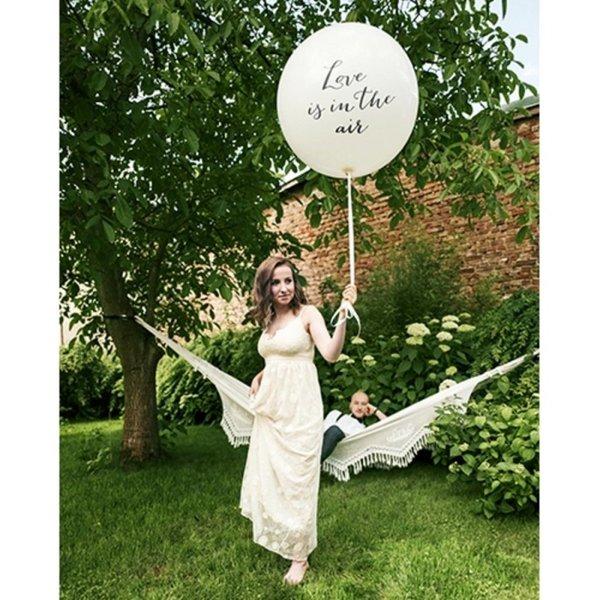 Моминско Парти Гигантски Бял Балон  с надпис - 1 метър