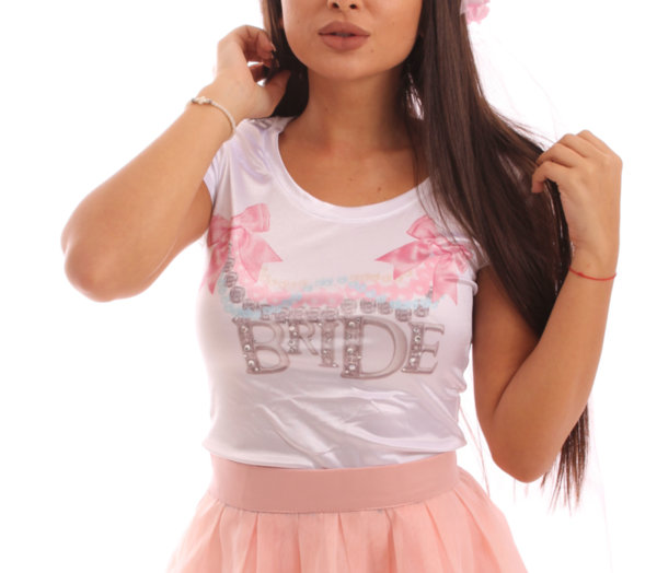 Тениска за моминско парти-Булка Бижу