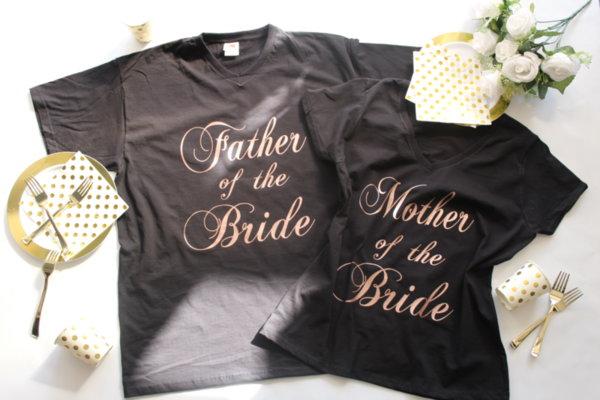 Тениски за родителите на Булката или Младоженецът