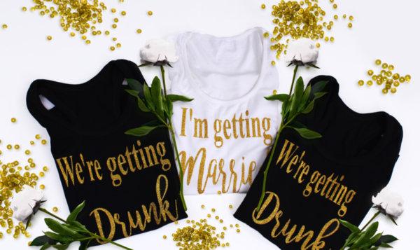 """Потничета за моминско парти """" Classic Ladies""""- Gold glitter edition"""