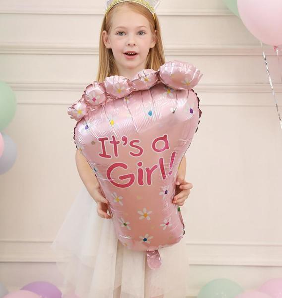 """Балон """" МОМИЧЕ ЩЕ Е"""" за бъдещи мами в розово"""