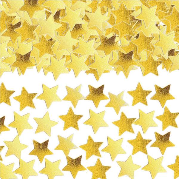 Златни конфети Звезди за маса