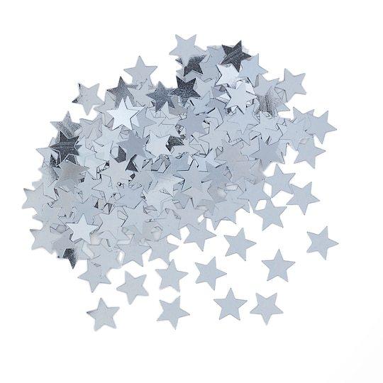 Сребърни конфети Звезди за маса