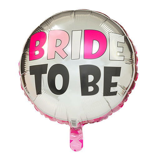 Балон от фолио с надпис BRIDE TO BE